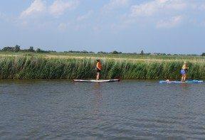 Paddleboarding race